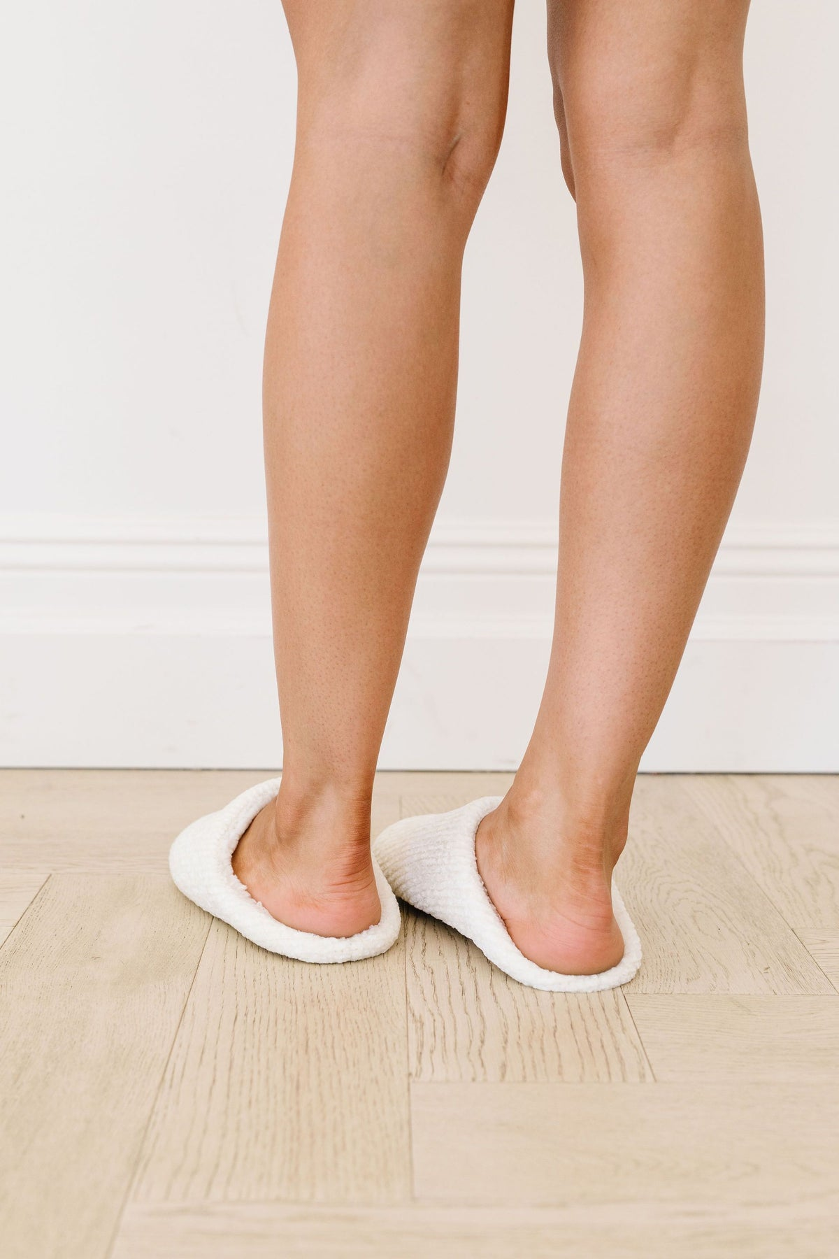 Chenille Cloud Slippers In Ivory