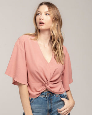 The Coral Cropped Top - alma boutique