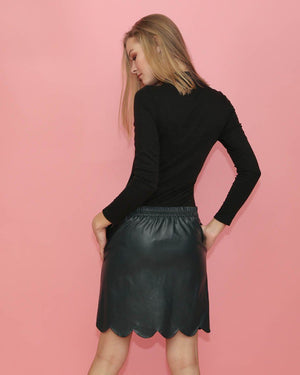 Vegan Leather skirt - alma boutique