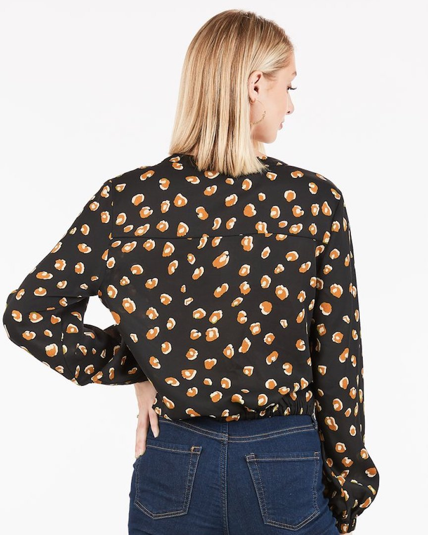 Animal Print Cropped Top - alma boutique