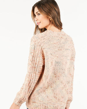 Hallie Blush Speckled Sweater - alma boutique