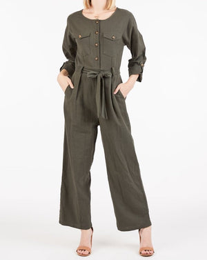 Jodi Jumpsuit in Olive - alma boutique