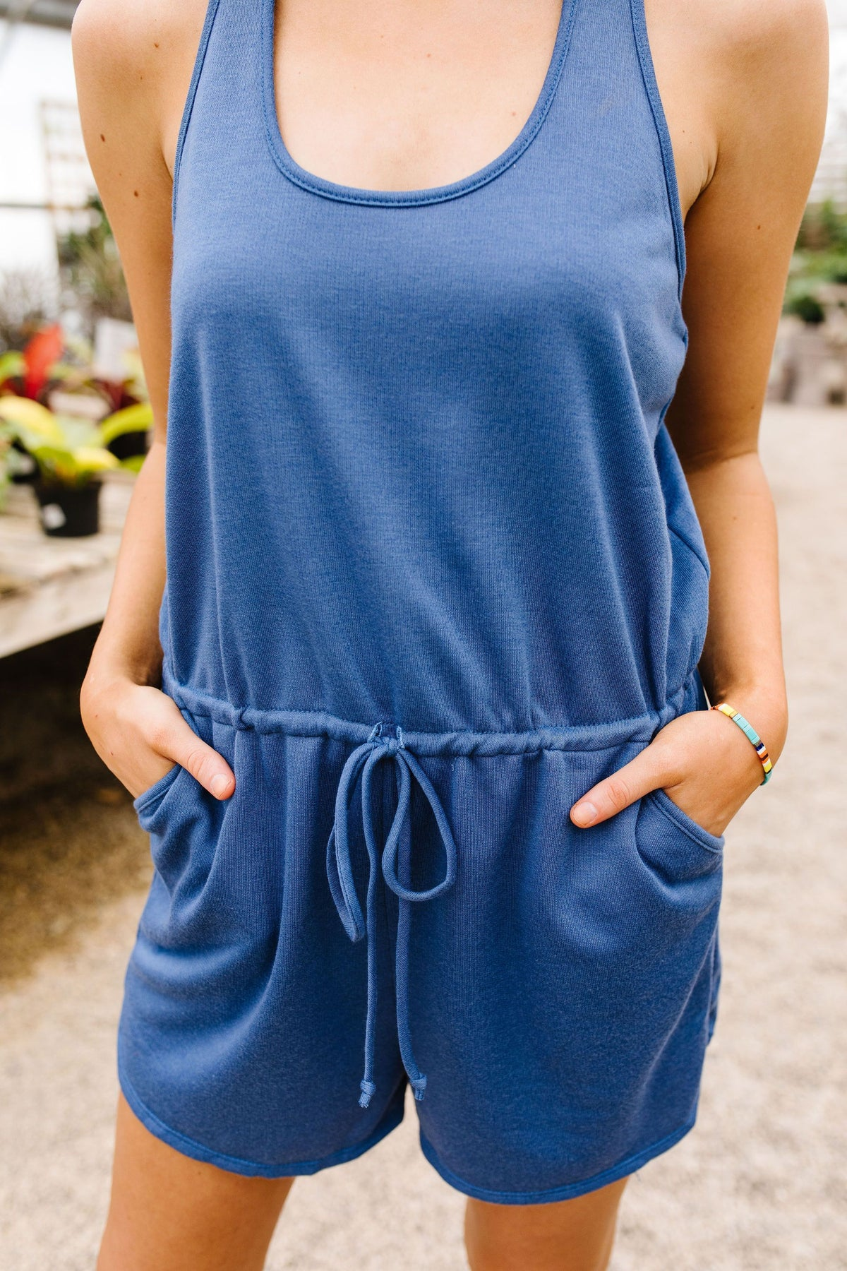 All Play Romper In Blue - alma boutique