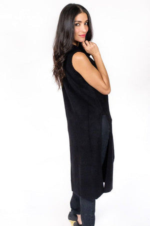 Lena Mock Neck Long Sweater - alma boutique