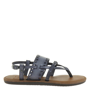 MADELINE - BON BON in BLUE SLATE Flat Sandals - alma boutique