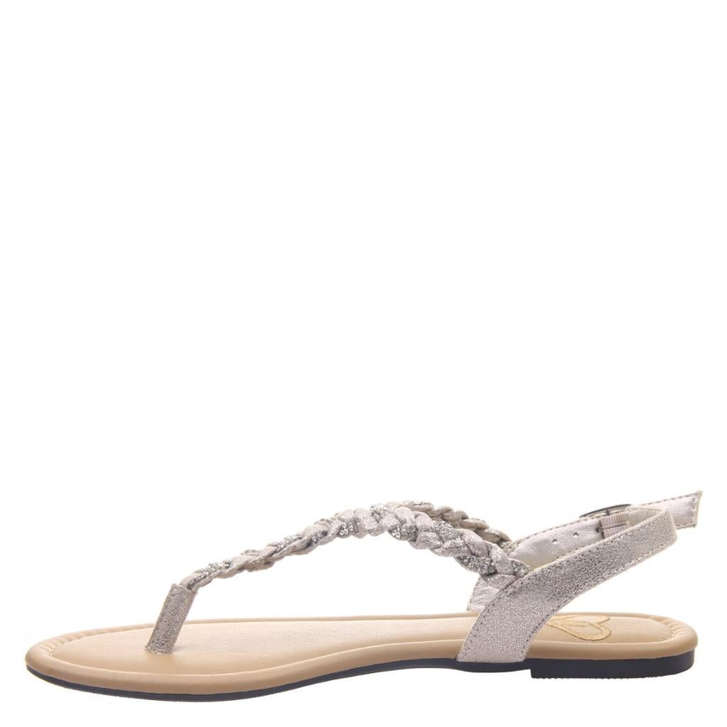MADELINE - CHARGE in ANTIQUE GOLD Flat Sandals - alma boutique