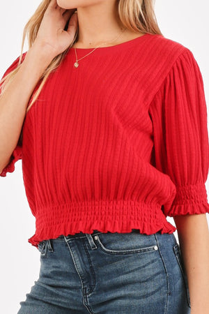 Scarlett Red Cropped Top - alma boutique
