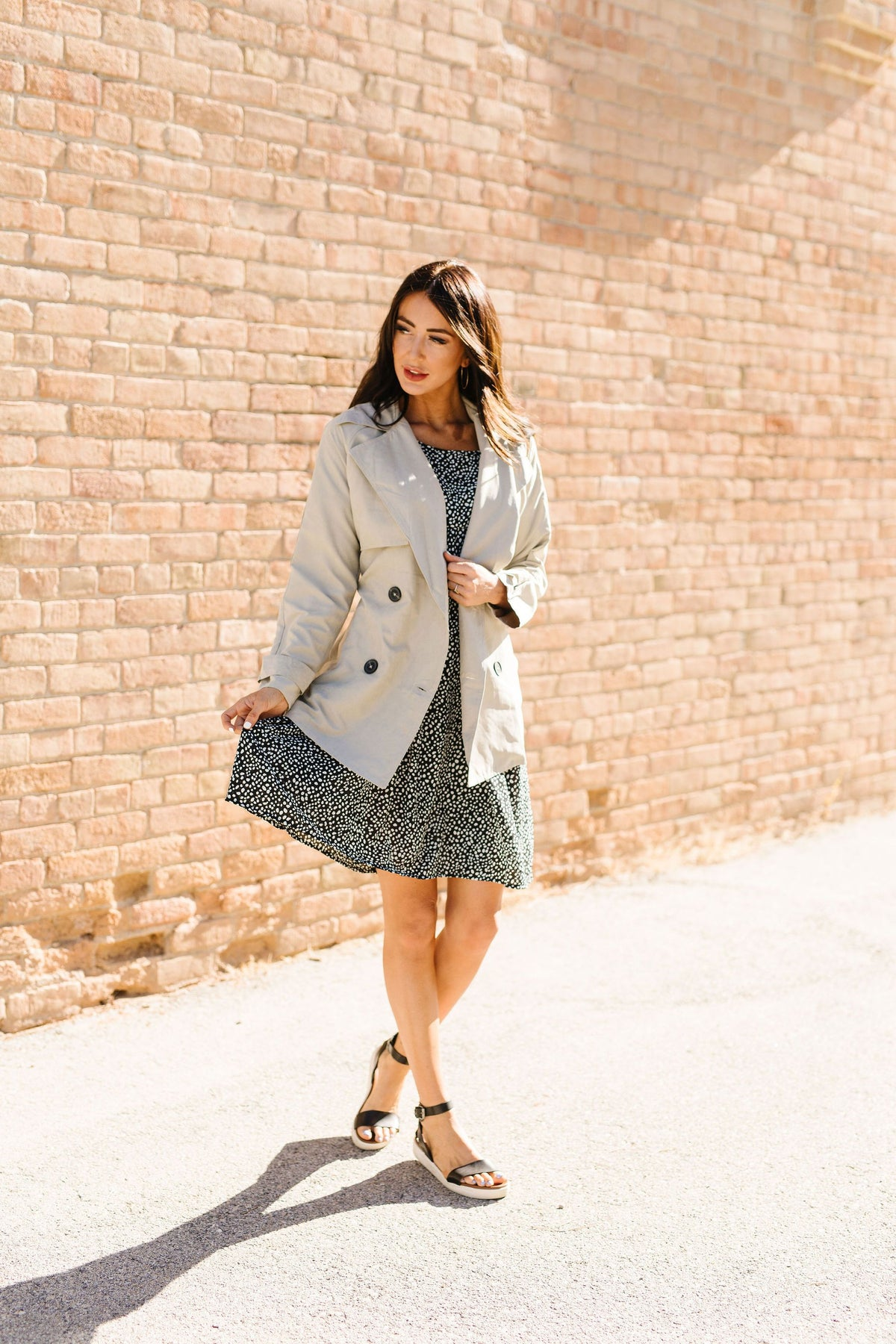Gina Taupe Trench Coat