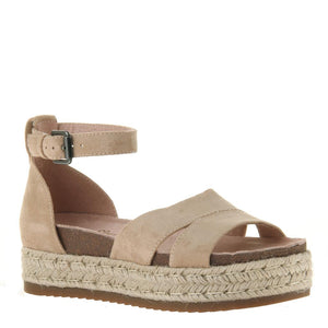 Drama Queen Champagne Wedge Sandals - alma boutique
