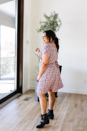 First Crush Blush Spotted Dress - alma boutique