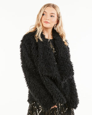 Clara Soft and Fuzzy Black Jacket