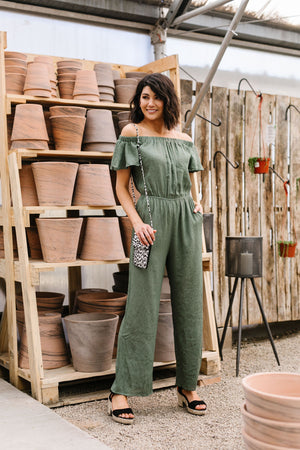 Go ahead and Jump in Olive - alma boutique