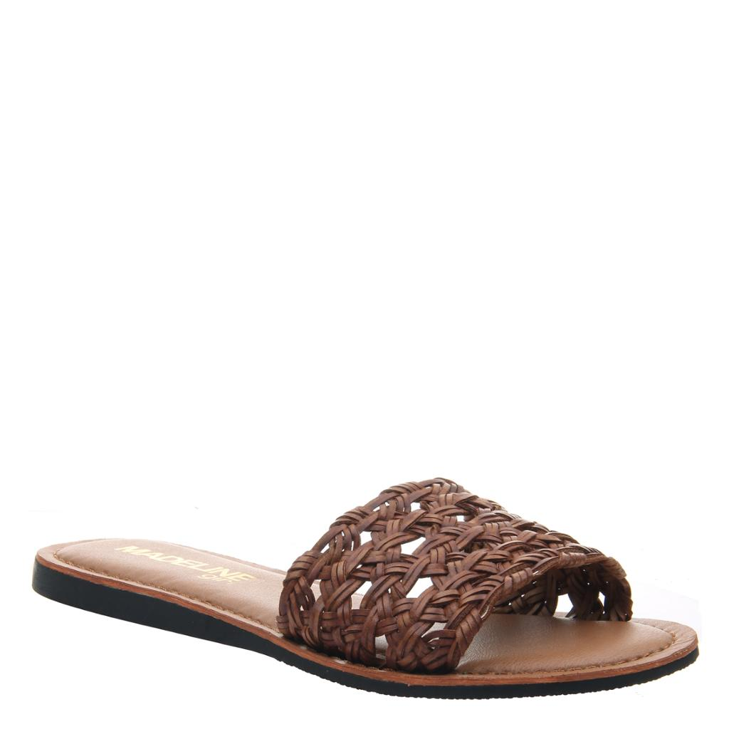MADELINE GIRL - HUE in MEDIUM BROWN Flat Sandals - alma boutique