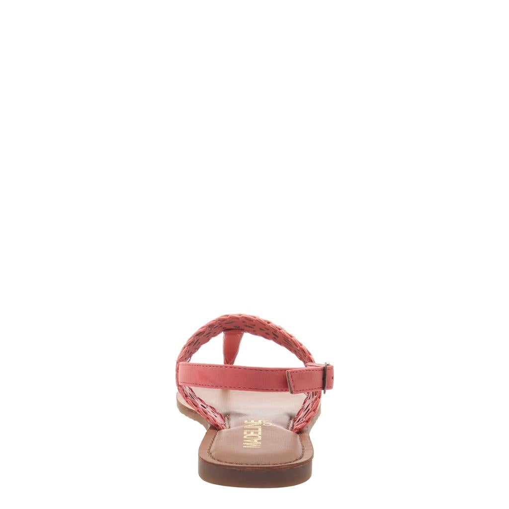 MADELINE GIRL - ICON in CORAL Flat Sandals - alma boutique