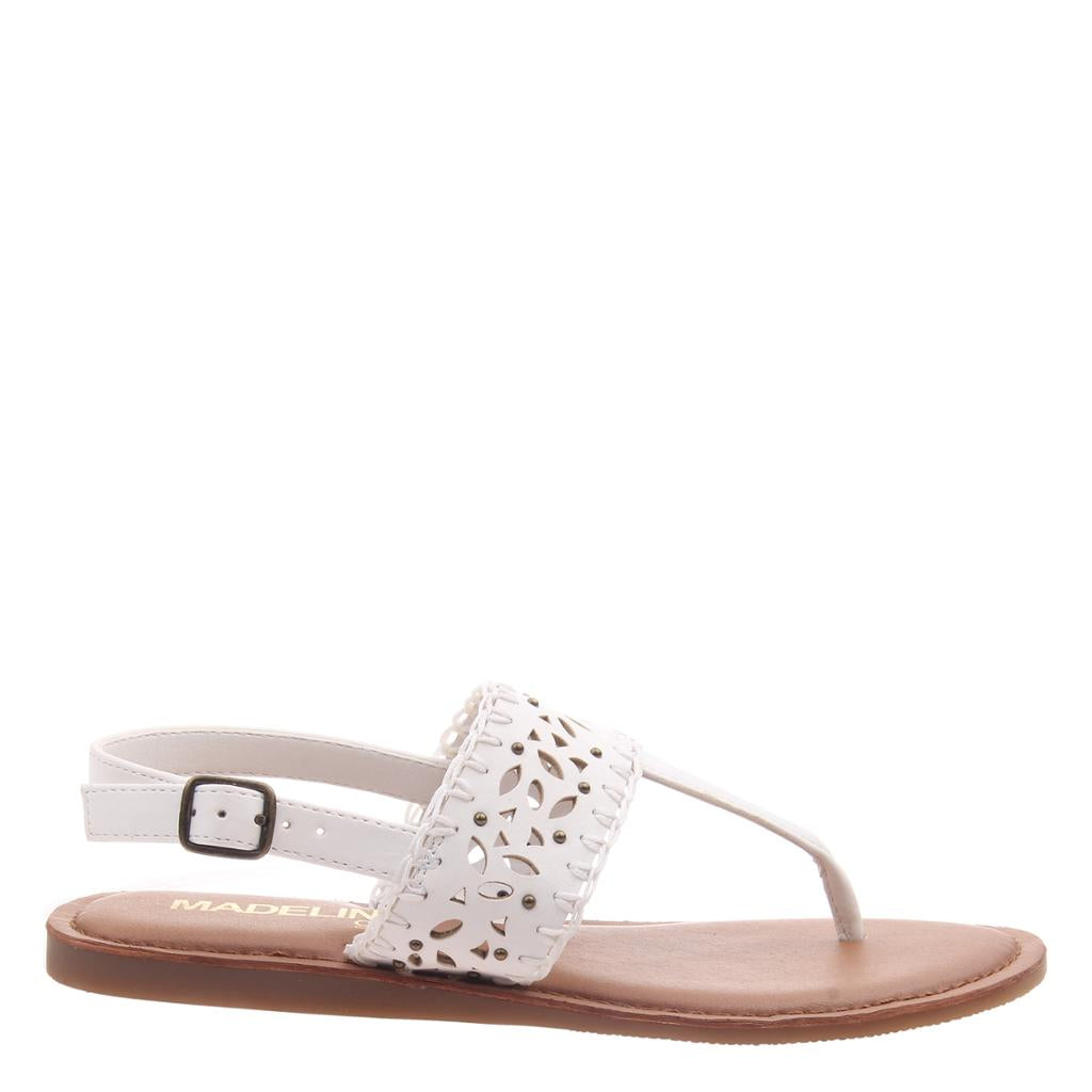 MADELINE GIRL - ICON in WHITE Flat Sandals - alma boutique