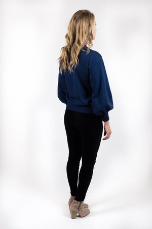 Kasey Lace up Sweatshirt - alma boutique