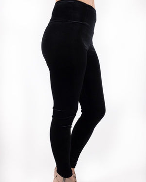 Lola Velvet Leggings - alma boutique