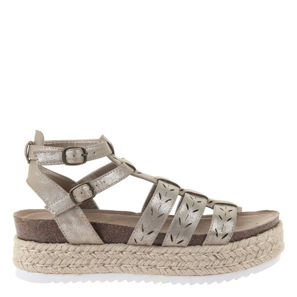 MADELINE GIRL - KINDRED in ANTIQUE GOLD Wedge Sandals - alma boutique