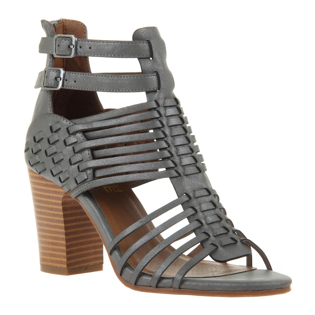 MADELINE GIRL - KWEEN in DARK GREY Heeled Sandals - alma boutique