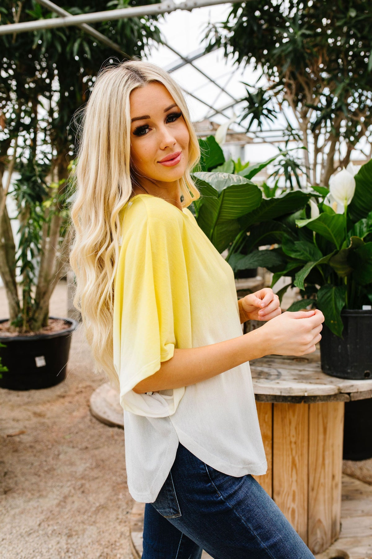 Ombre Yellow Top