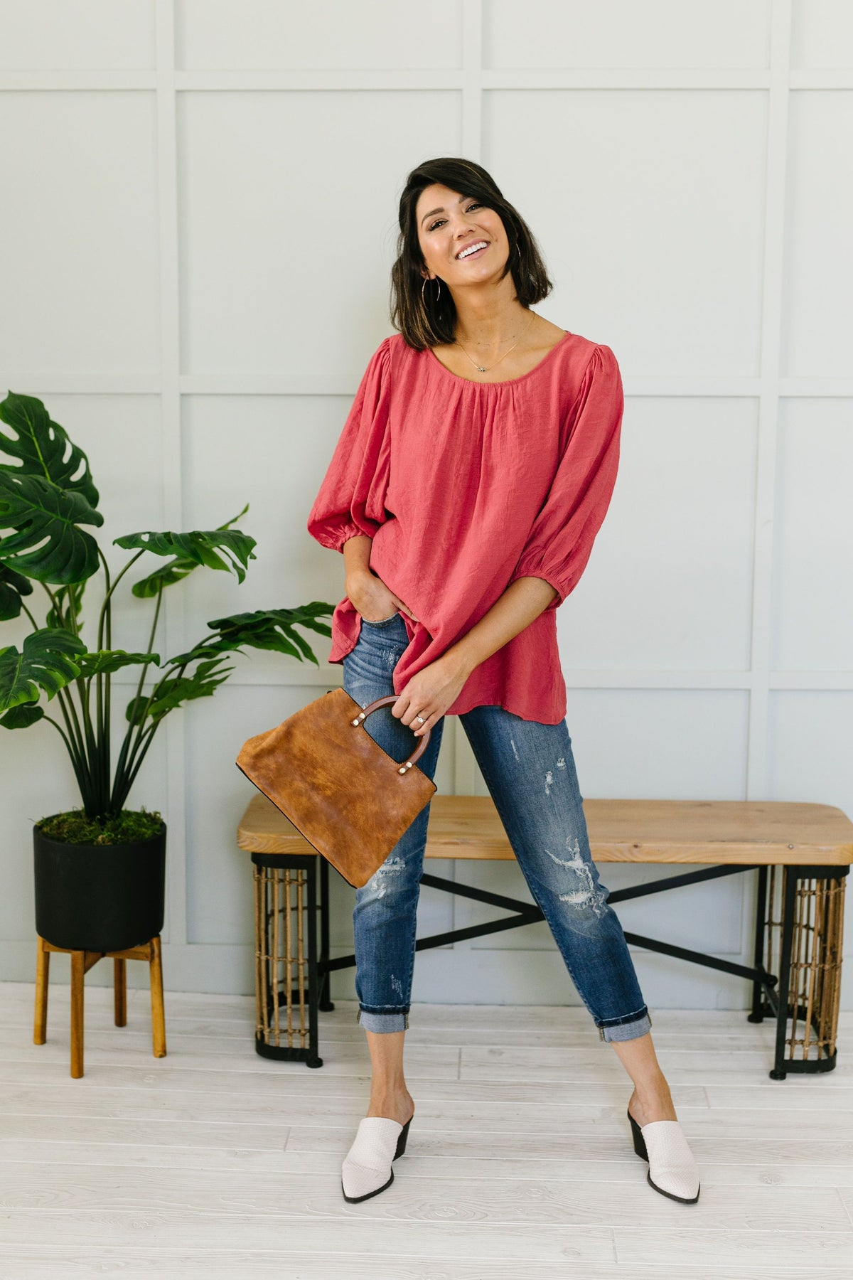 Persimmon Peasant Blouse