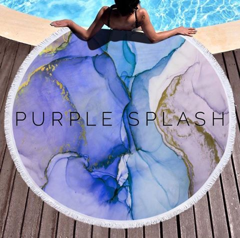 Round Plush Beach Towels - alma boutique