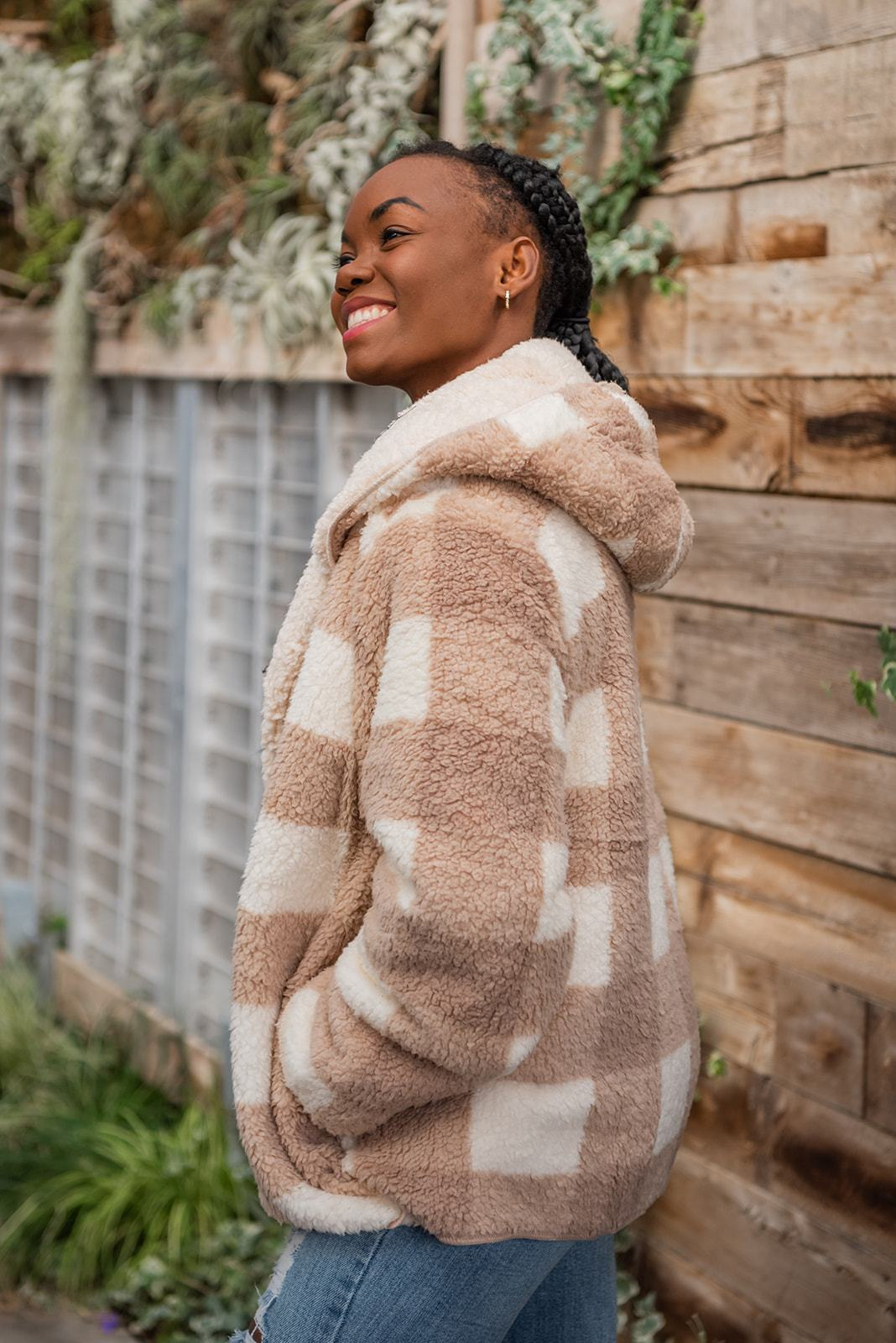 Tell Me Everything Sherpa Fleece Hooded Coat