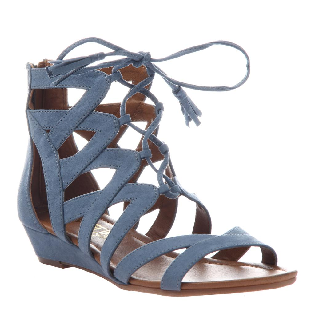 MADELINE GIRL - SATURATE in BLUE Flat Sandals - alma boutique