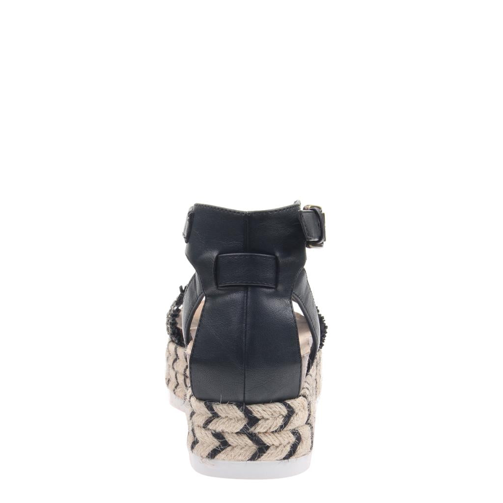 MADELINE GIRL - SPHINX in BLACK Wedge Sandals - alma boutique