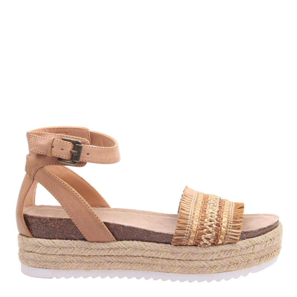 MADELINE GIRL - SPHINX in BROWN SUGAR Wedge Sandals - alma boutique