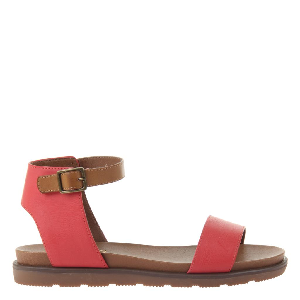 Red Flat Sandals - alma boutique