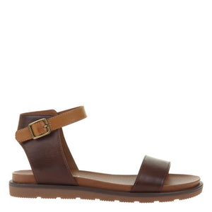 Brown Flat Sandals - alma boutique
