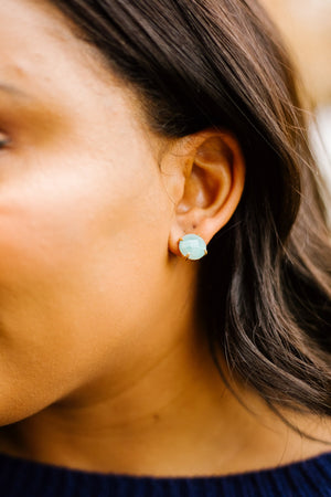 Stone Cold Earrings In Amazonite - alma boutique