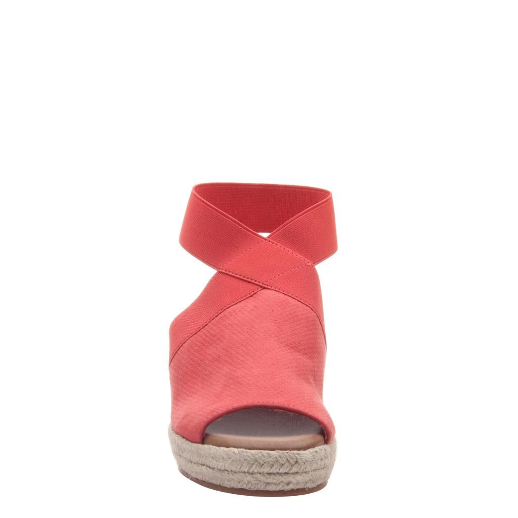 MADELINE - SUNNY DAY in LIPSTICK Wedge Sandals - alma boutique