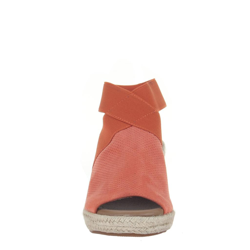 MADELINE - SUNNY DAY in MANDARIN Wedge Sandals - alma boutique