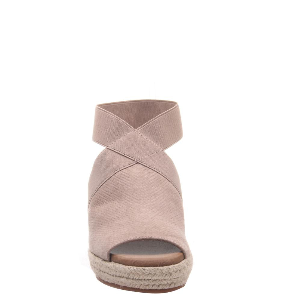 Taupe Wedge Sandals - alma boutique