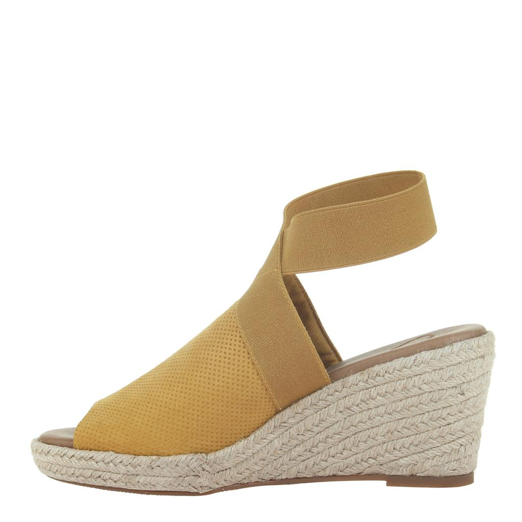 Mustard Wedge Sandals - alma boutique