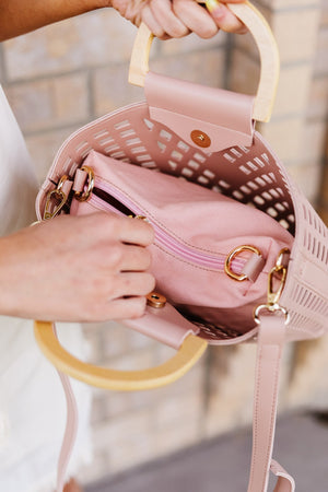 The Madison Bag in Blush - alma boutique