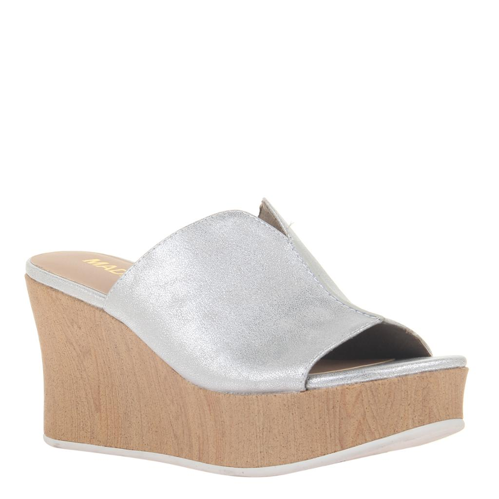 MADELINE GIRL - THROWBACK in SILVER Wedge Sandals - alma boutique