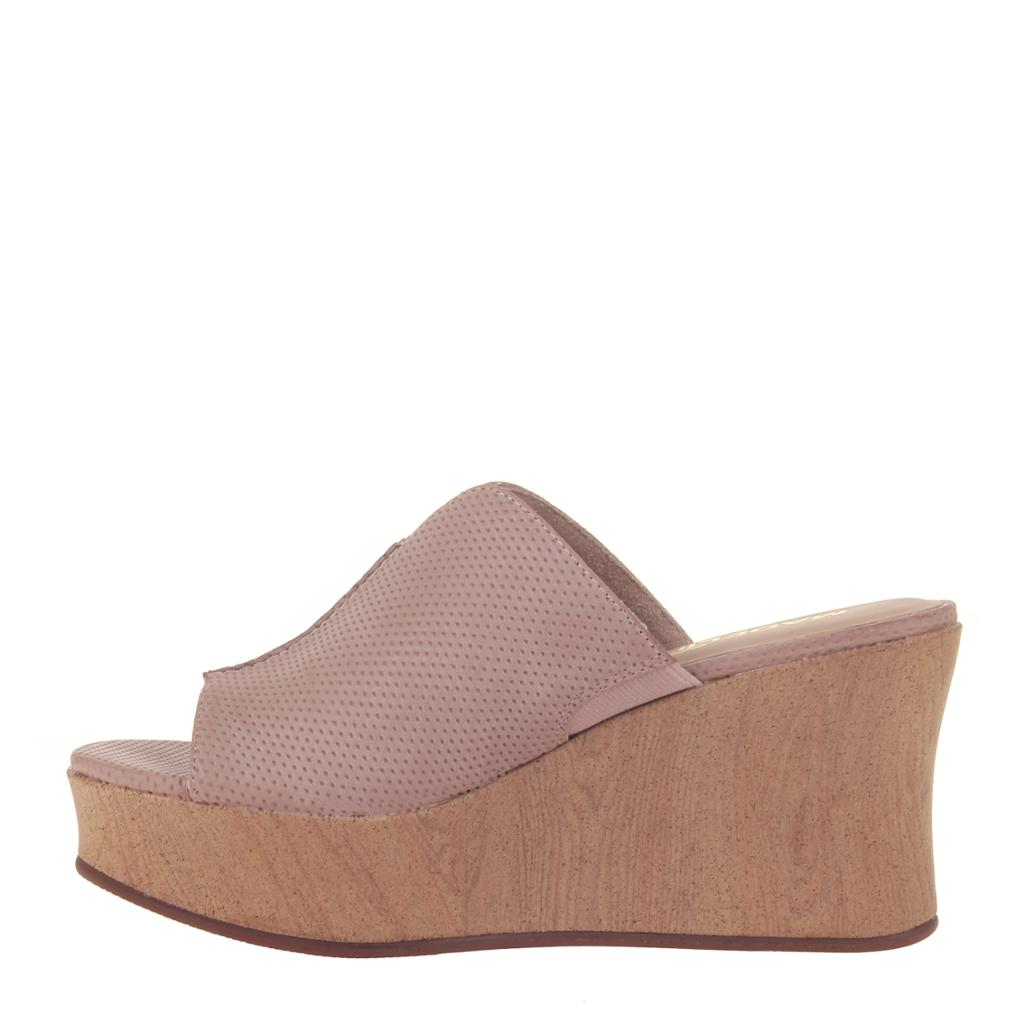 MADELINE GIRL - THROWBACK in WARM PINK Wedge Sandals - alma boutique