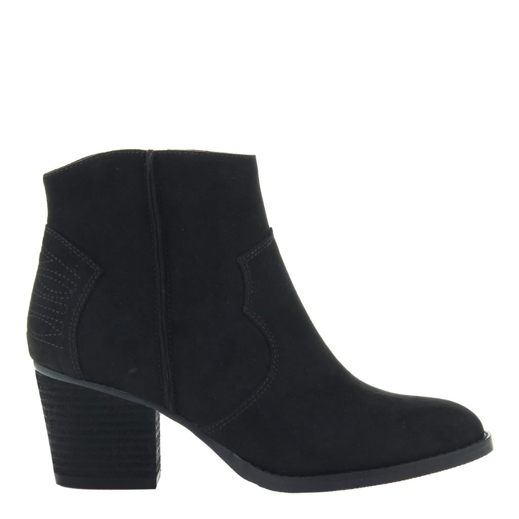 MADELINE - WILD WEST in BLACK Ankle Boots