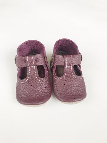 Plum Mary Janes