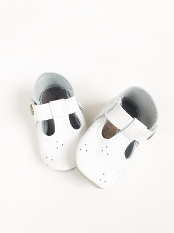 White Mary Janes