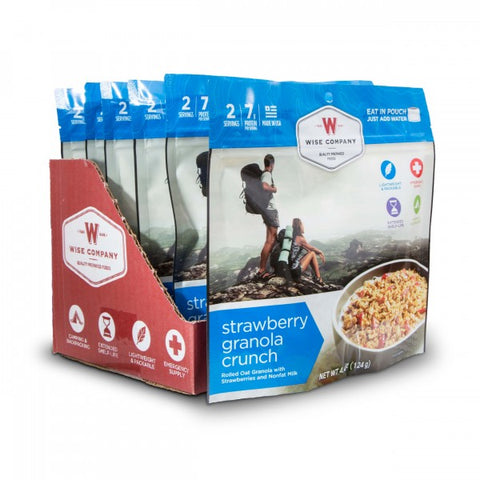 Strawberry Granola Crunch Camping Food (Case of 6) - Survival Gear Canada