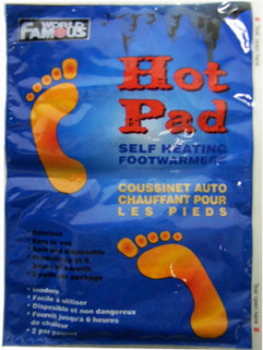 Hot Pad Foot Warmers - Survival Gear Canada