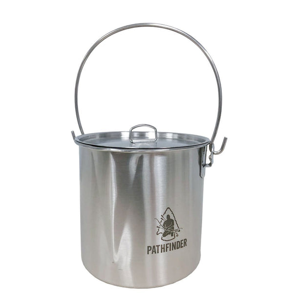 Stainless Steel 64oz Bush Pot & Lid - Survival Gear Canada