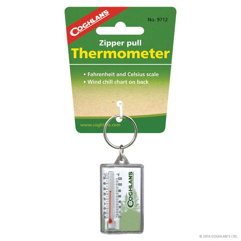 Zipper Pull Thermometer - Survival Gear Canada