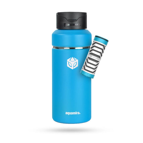 Aquamira SHIFT 32oz Filter Bottle (Blue)