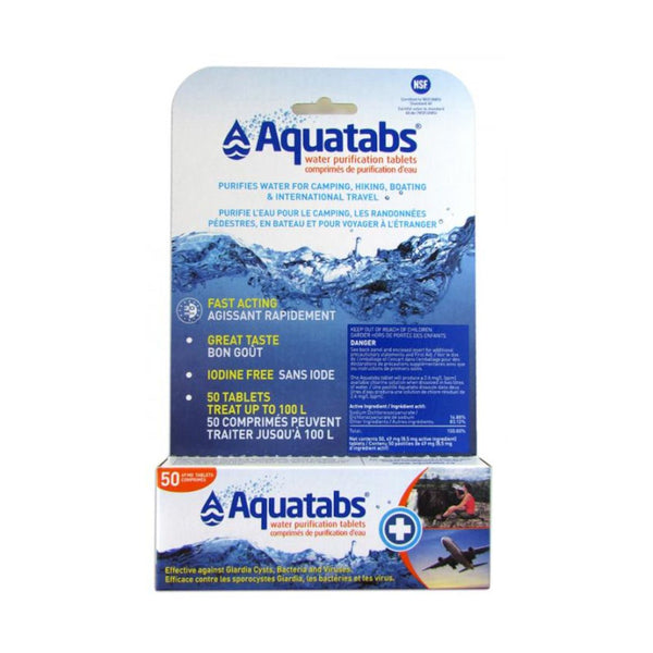 Aquatabs Water Purification Tablets 1L - Survival Gear Canada
