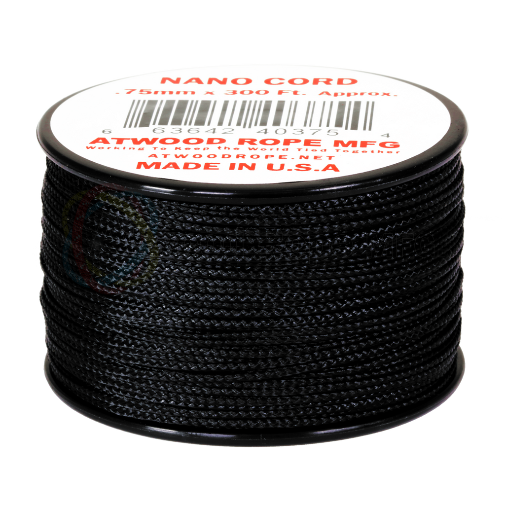 Atwood Rope Nano Cord .75mm - Black